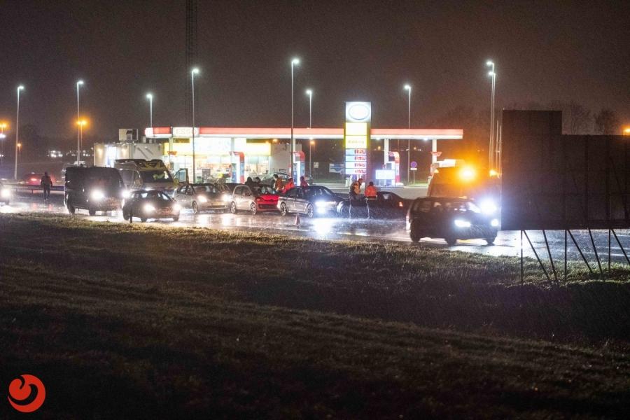 Vijf auto's betrokken bij kettingbotsing