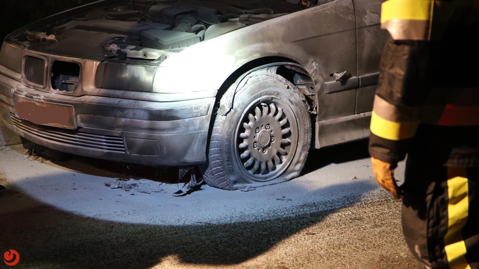Poging tot brandstichting bij auto