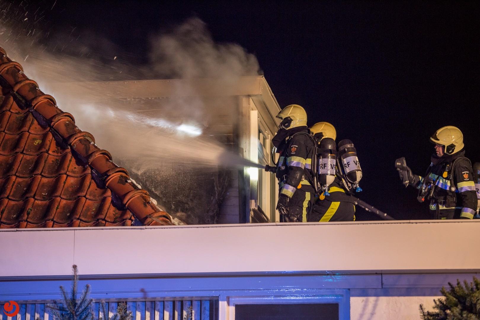Rookontwikkeling bij woningbrand
