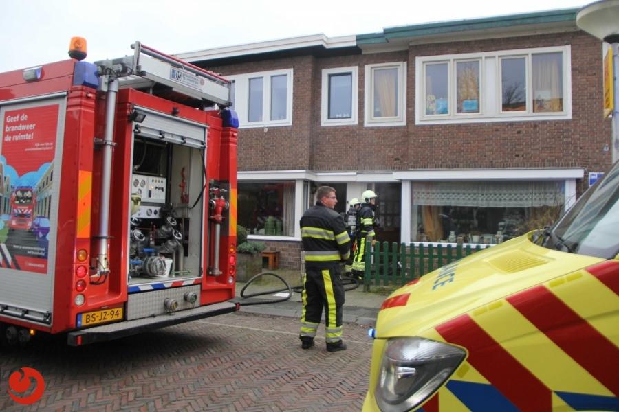 Bewoner weigert woning te verlaten bij keukenbrand