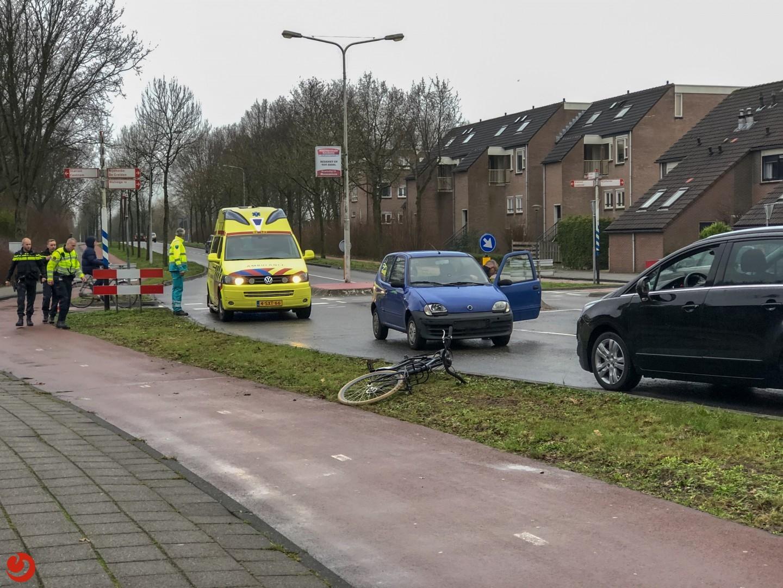 Fietser aangereden  Haskeruitgang in Heerenveen