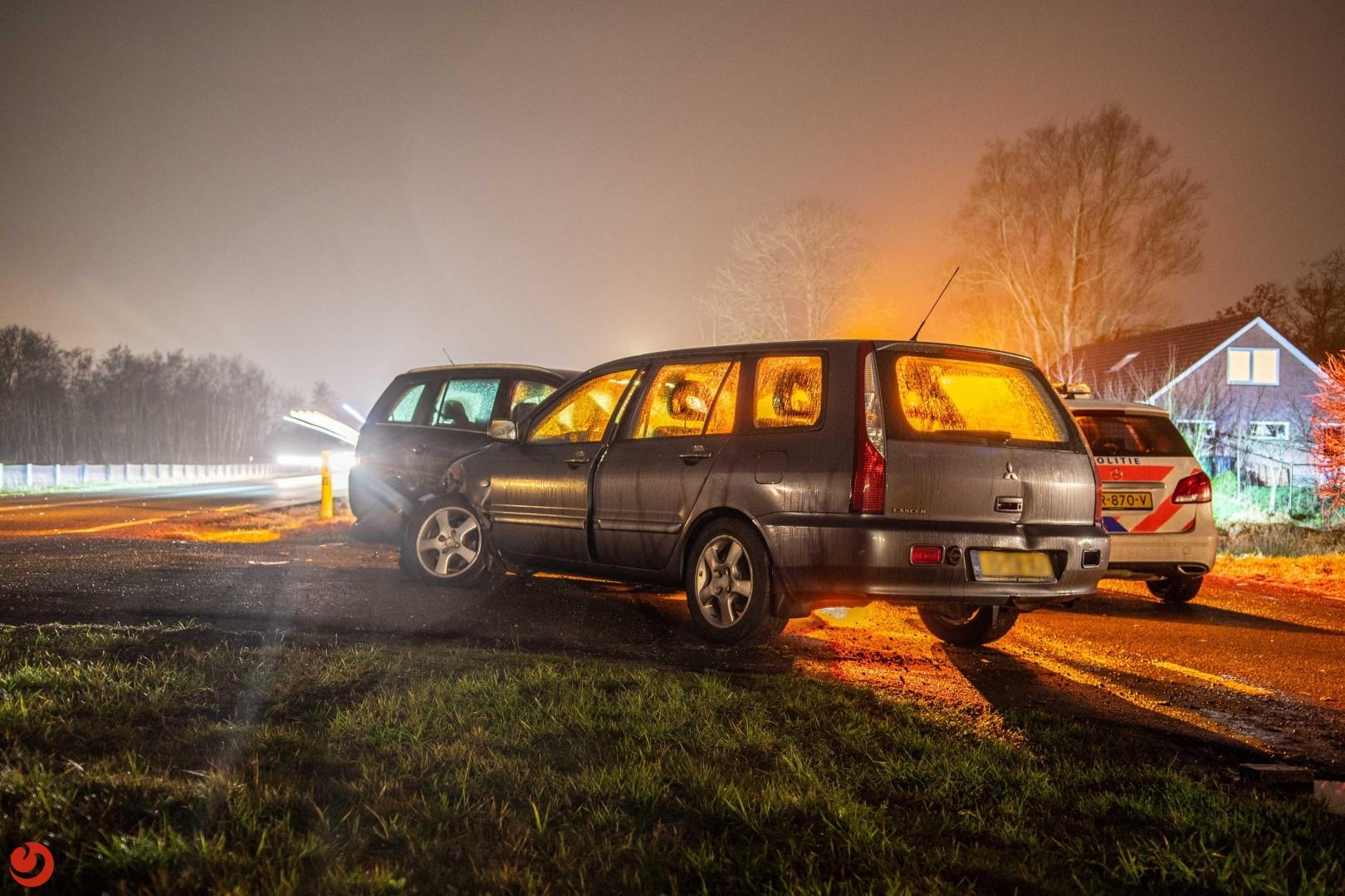 Automobilist lichtgewond na ongeval