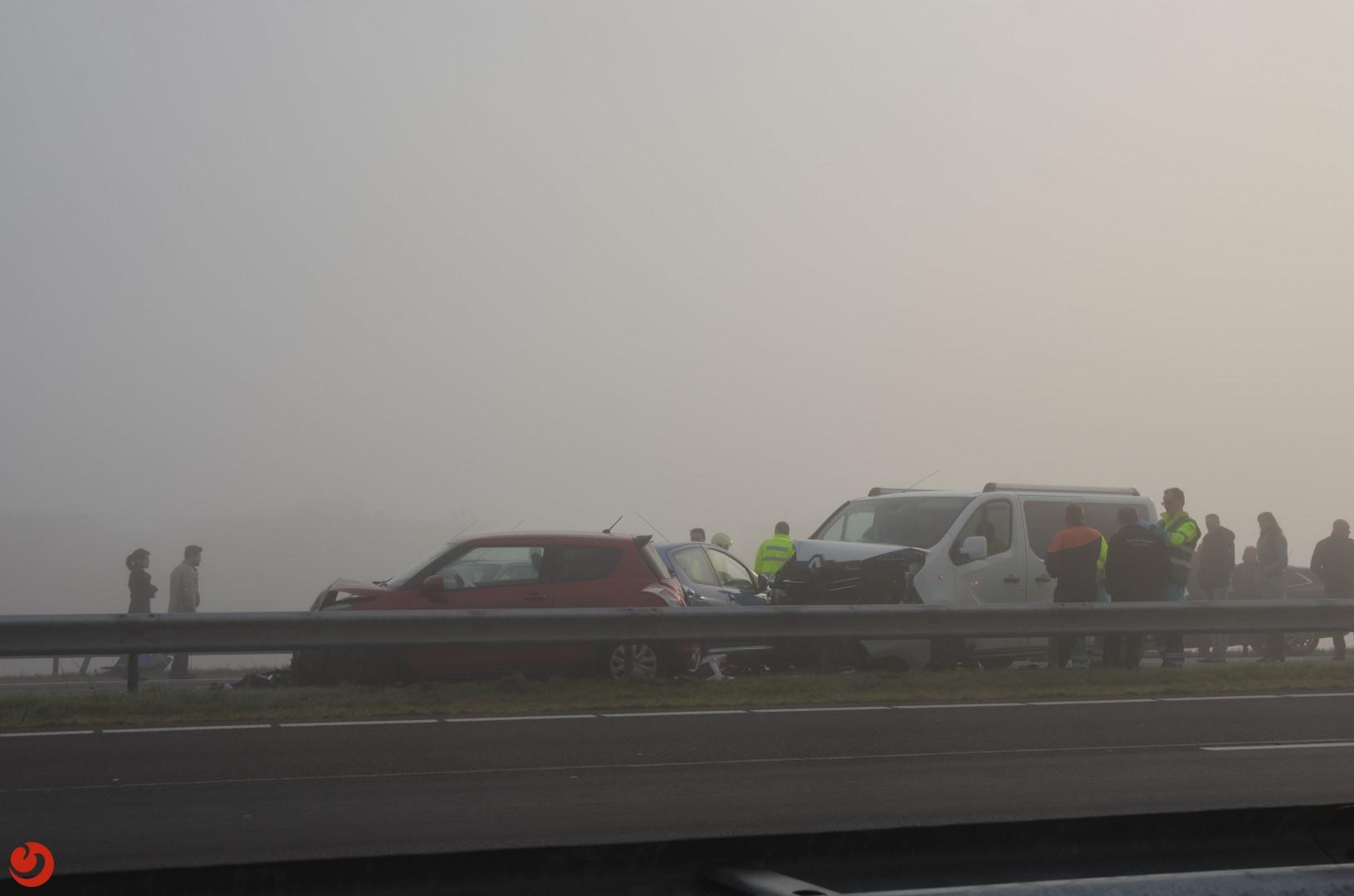 Chaos op A32 door diverse ongevallen