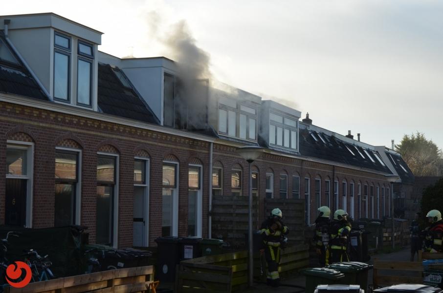 Forse brand op bovenverdieping
