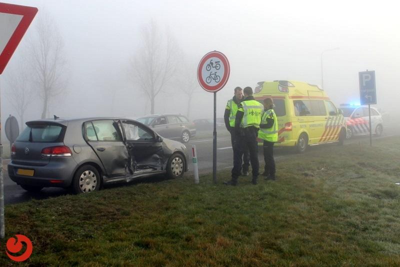 Lange files door ongeval op rotonde
