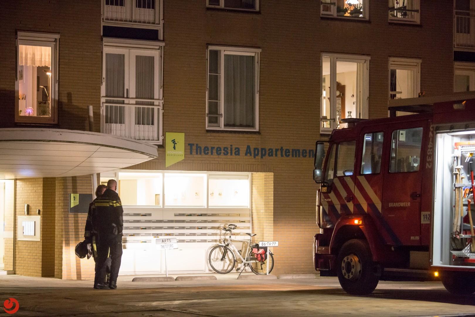 Korte keukenbrand in Theresia