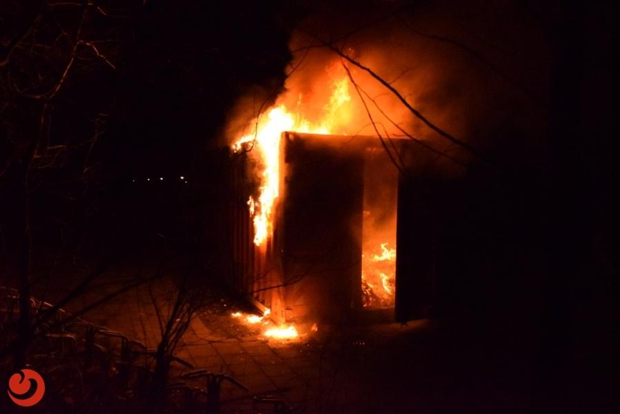 Papiercontainer opnieuw in brand gestoken