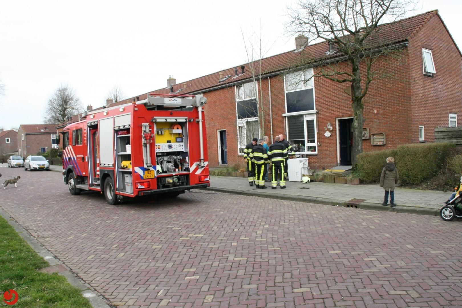 Rokende wasmachine zorgt voor brandmelding