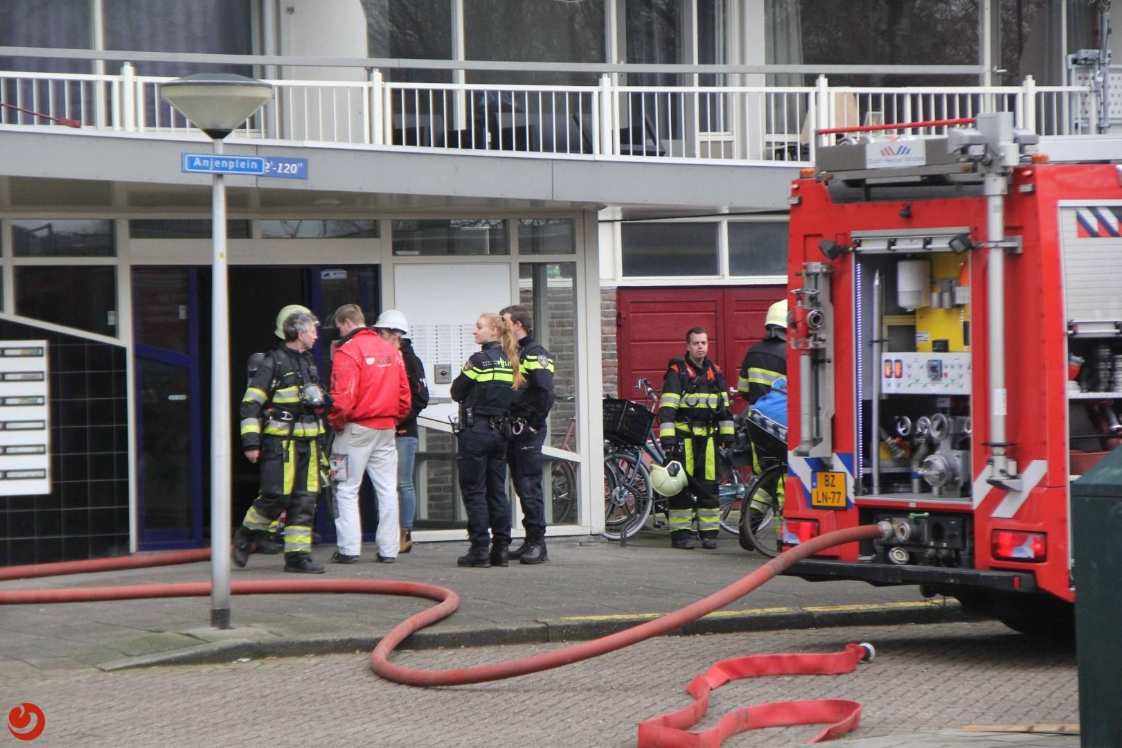 Dakbrand door werkzaamheden op flat