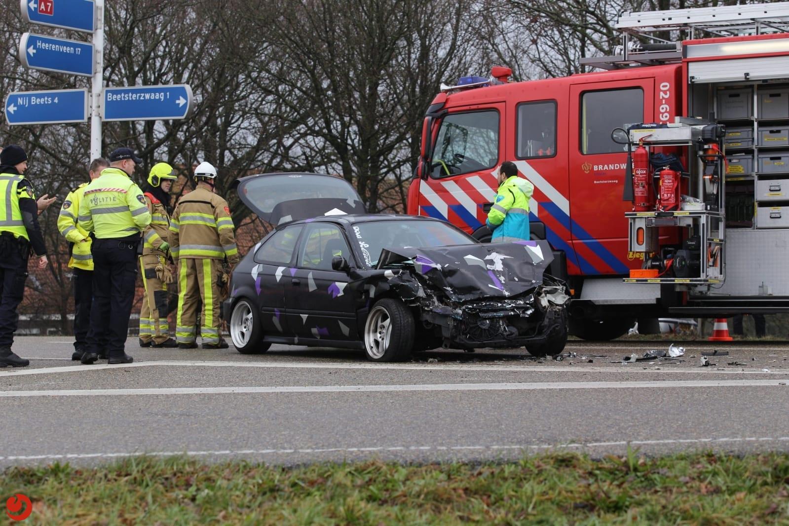 Gewonde bij ongeval op afrit A7