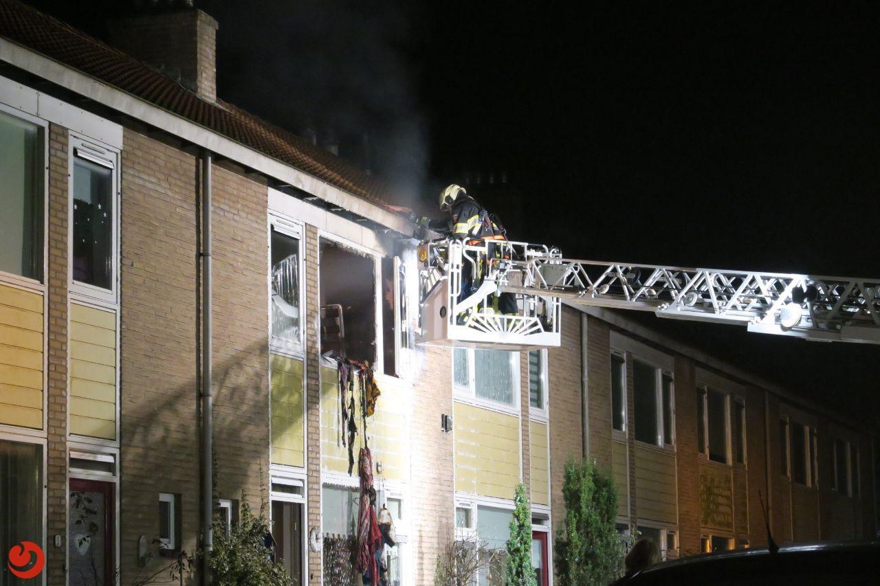 Slaapkamer verwoest door uitslaande brand
