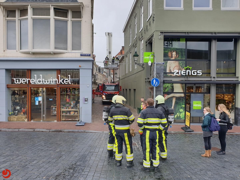 Brand op dak door werkzaamheden