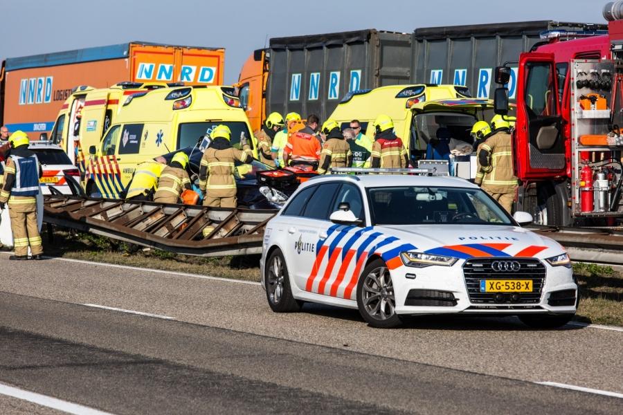 Ernstig ongeval op Afsluitdijk