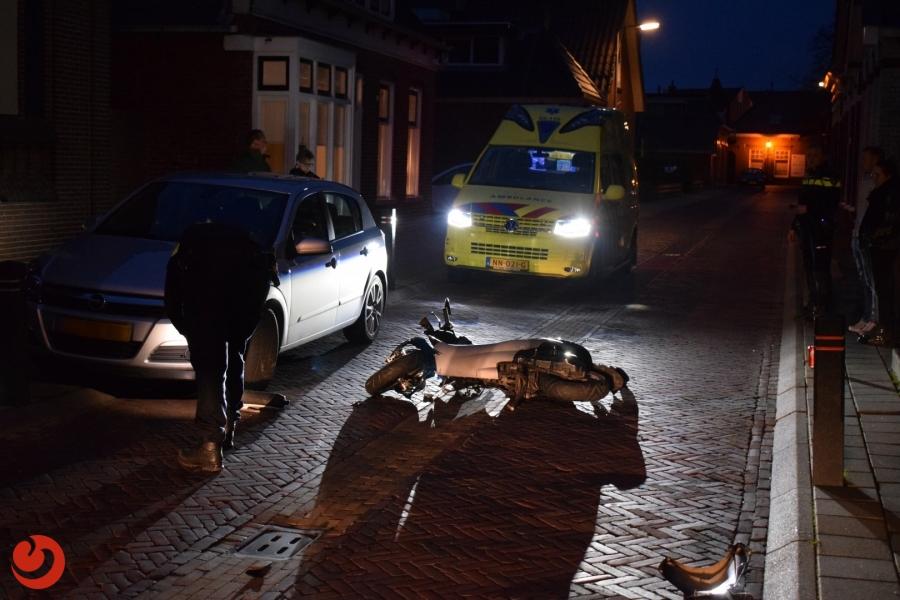 Scooterrijder gewond na harde val