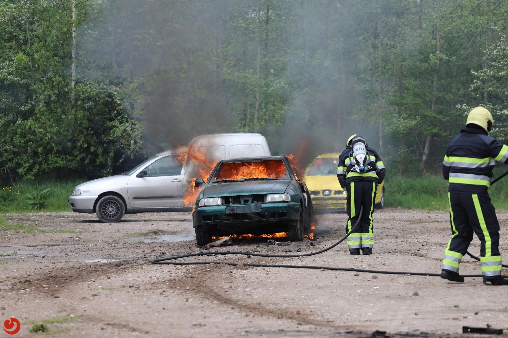 Sloopauto in brand