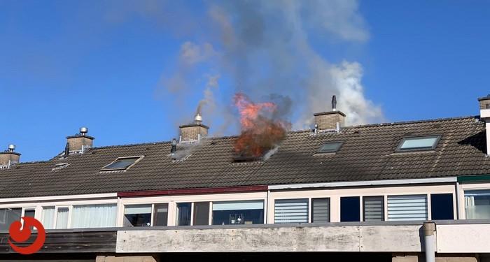Uitslaande brand verwoest zolder