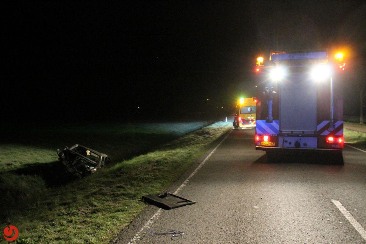 Ernstig gewonde na ongeval op de N358