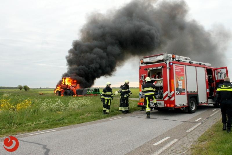 Shovel door brand verwoest