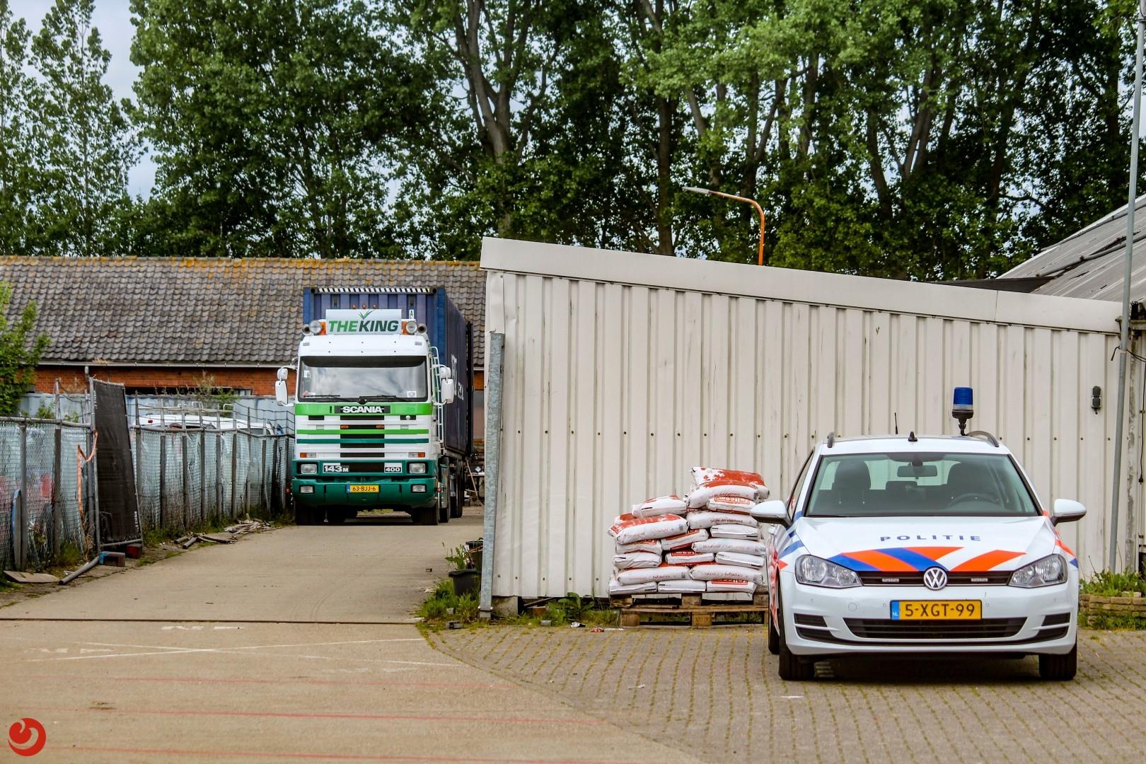 Politie ontdekt drugslab in bedrijfspand