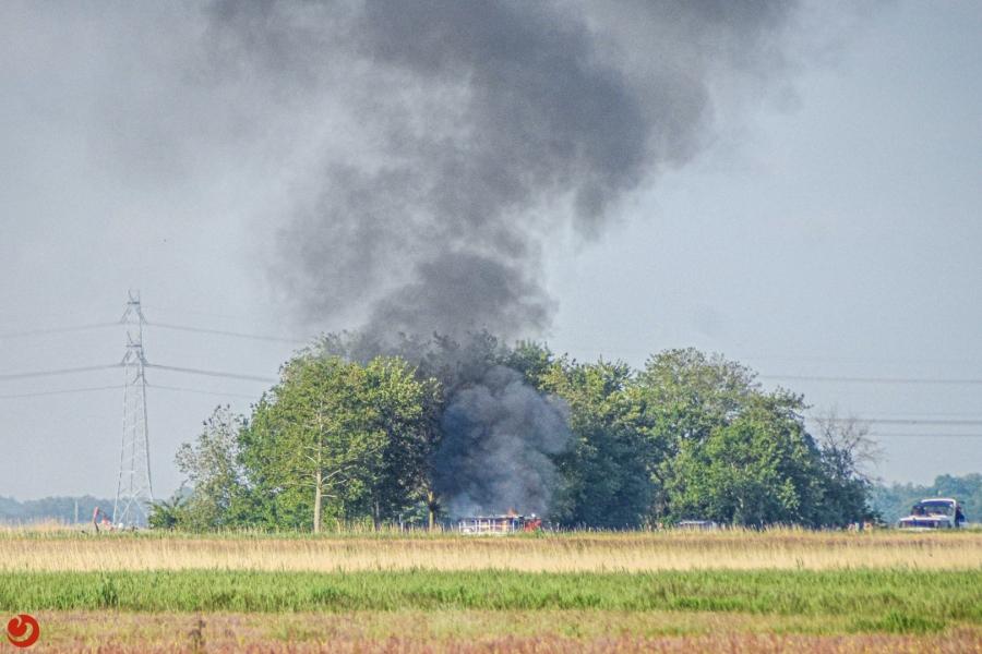 Bootje uitgebrand in de Tsjonger