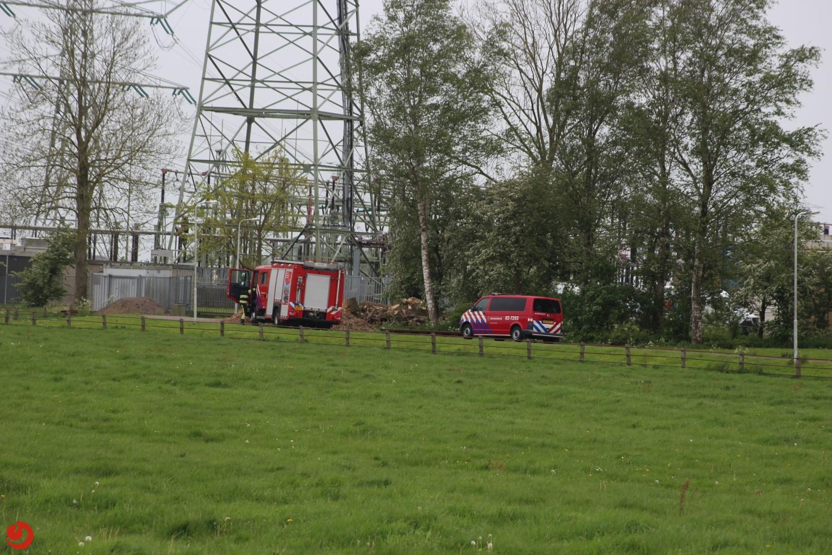 Brand in stroomstation hoogspanningsnet