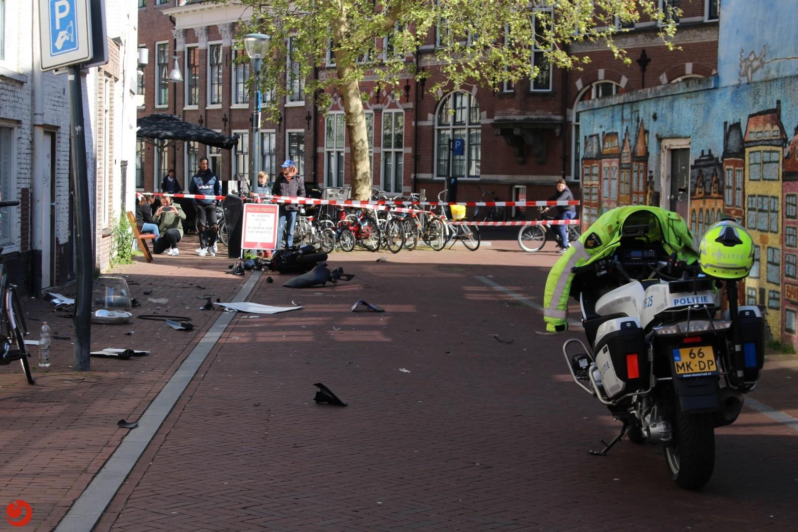 Twee gewonden na achtervolging scooter