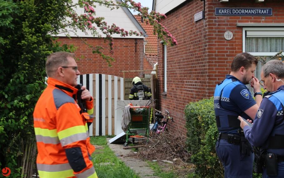 Brandweer ingezet voor gevaarlijke stoffen in tuin