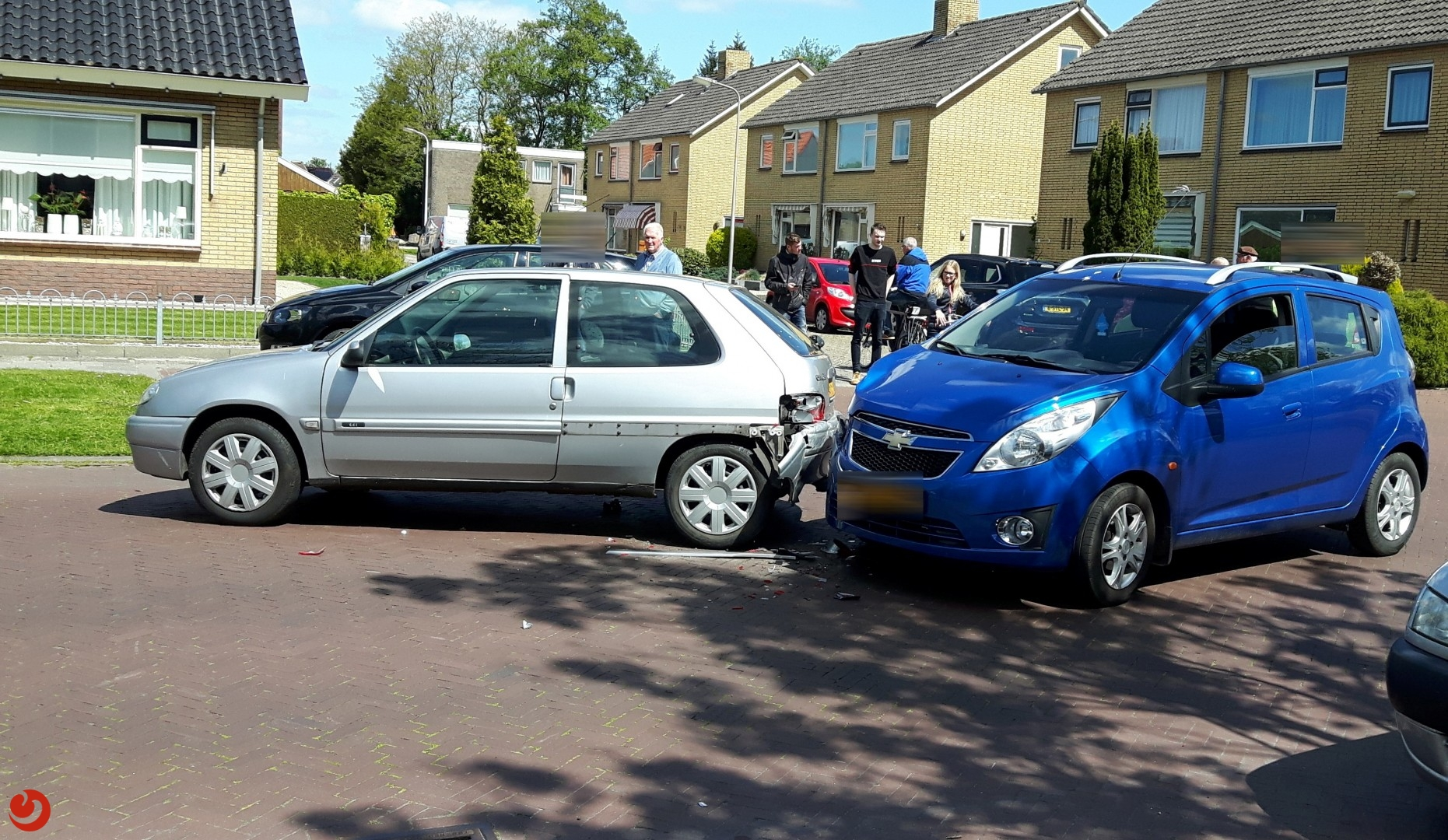 Twee voertuigen betrokken bij ongeval