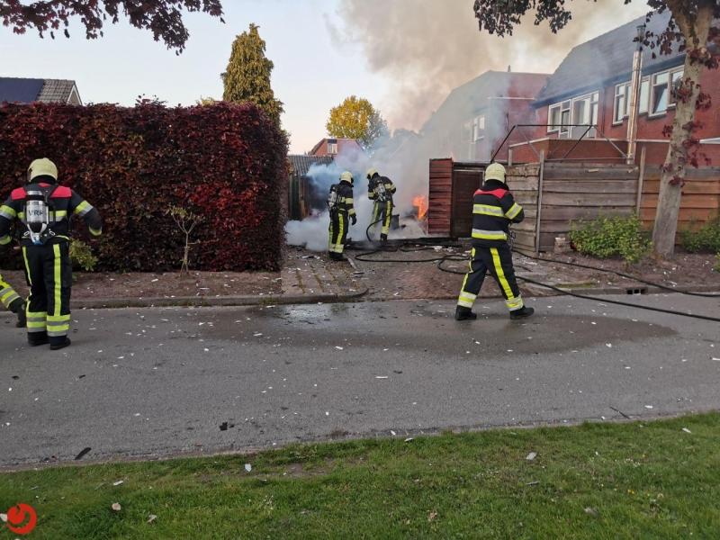 Garagebox verloren gegaan door brand
