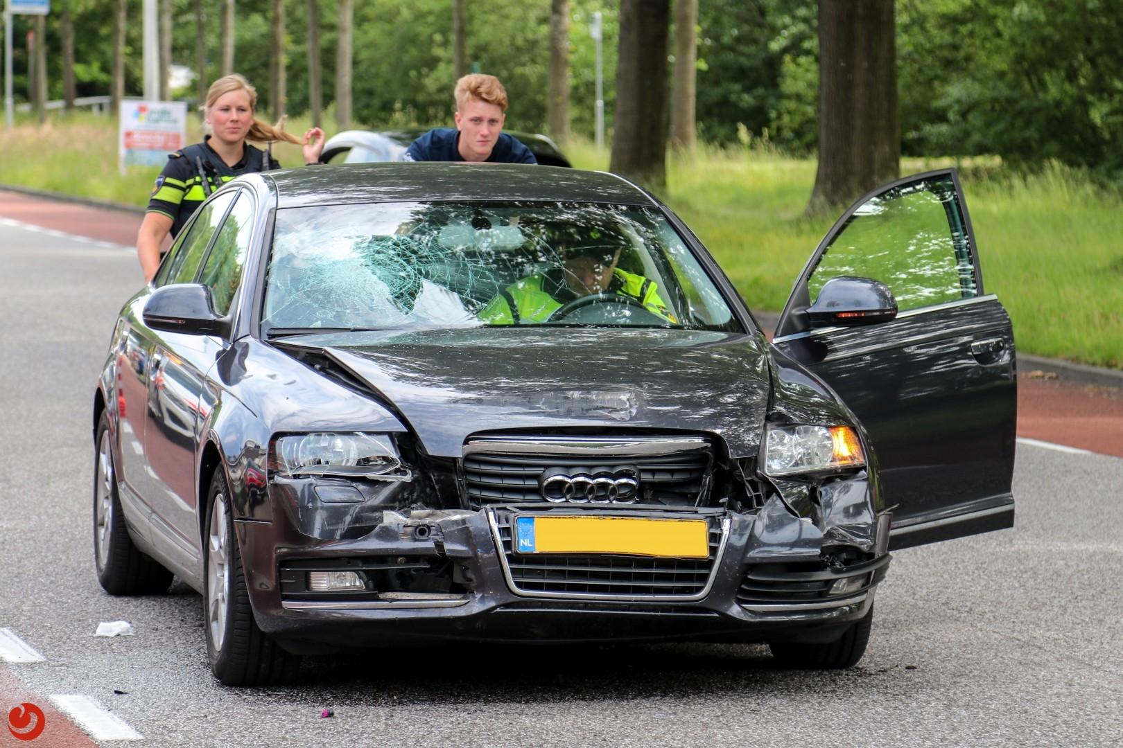 Vrouw gewond na ongeval met vrachtwagen