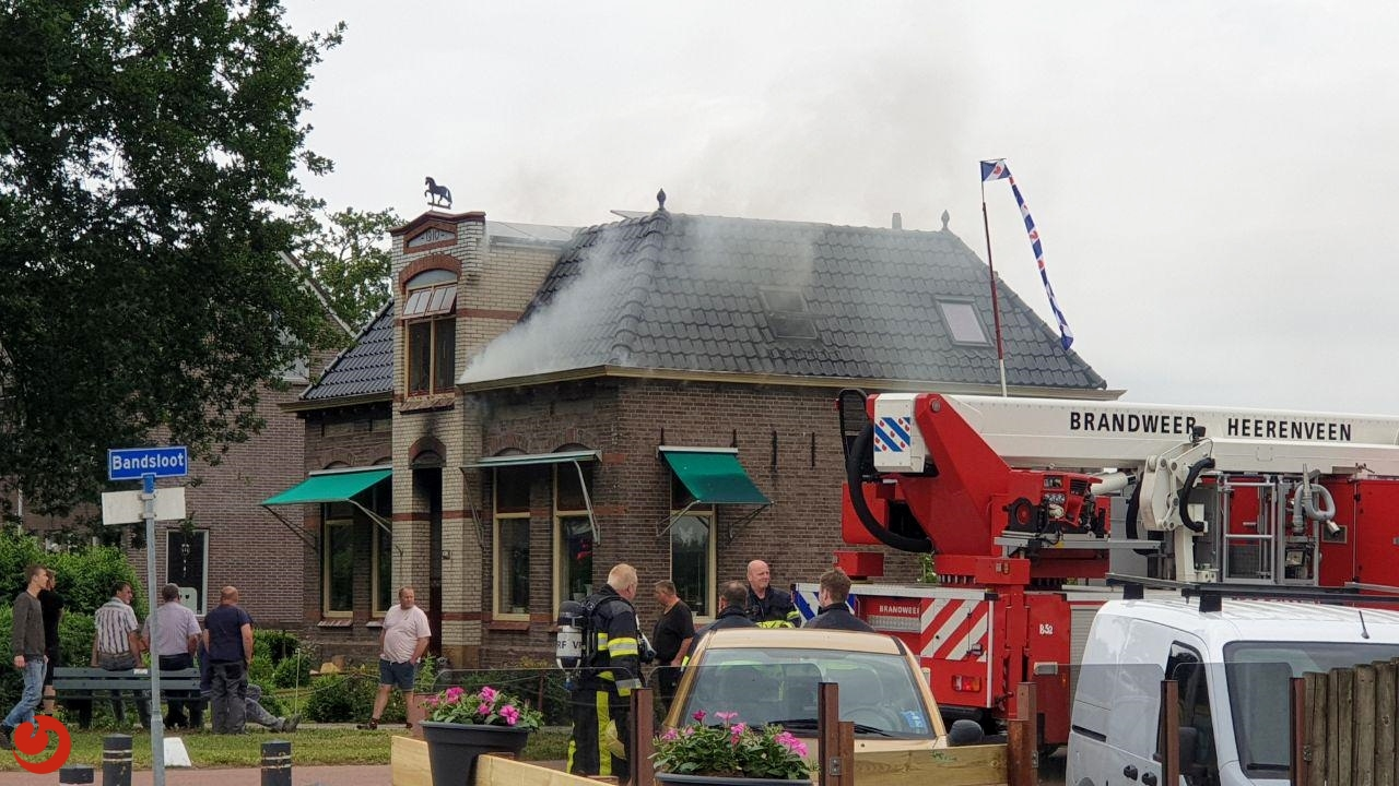 Forse brand in vrijstaande woning