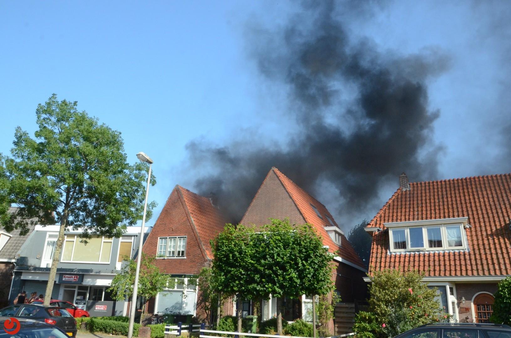 Zeer grote brand verwoest woning