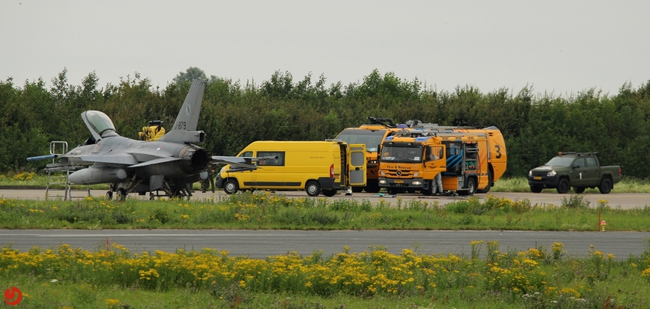 F-16 lekt hydrazine na voorzorgslanding