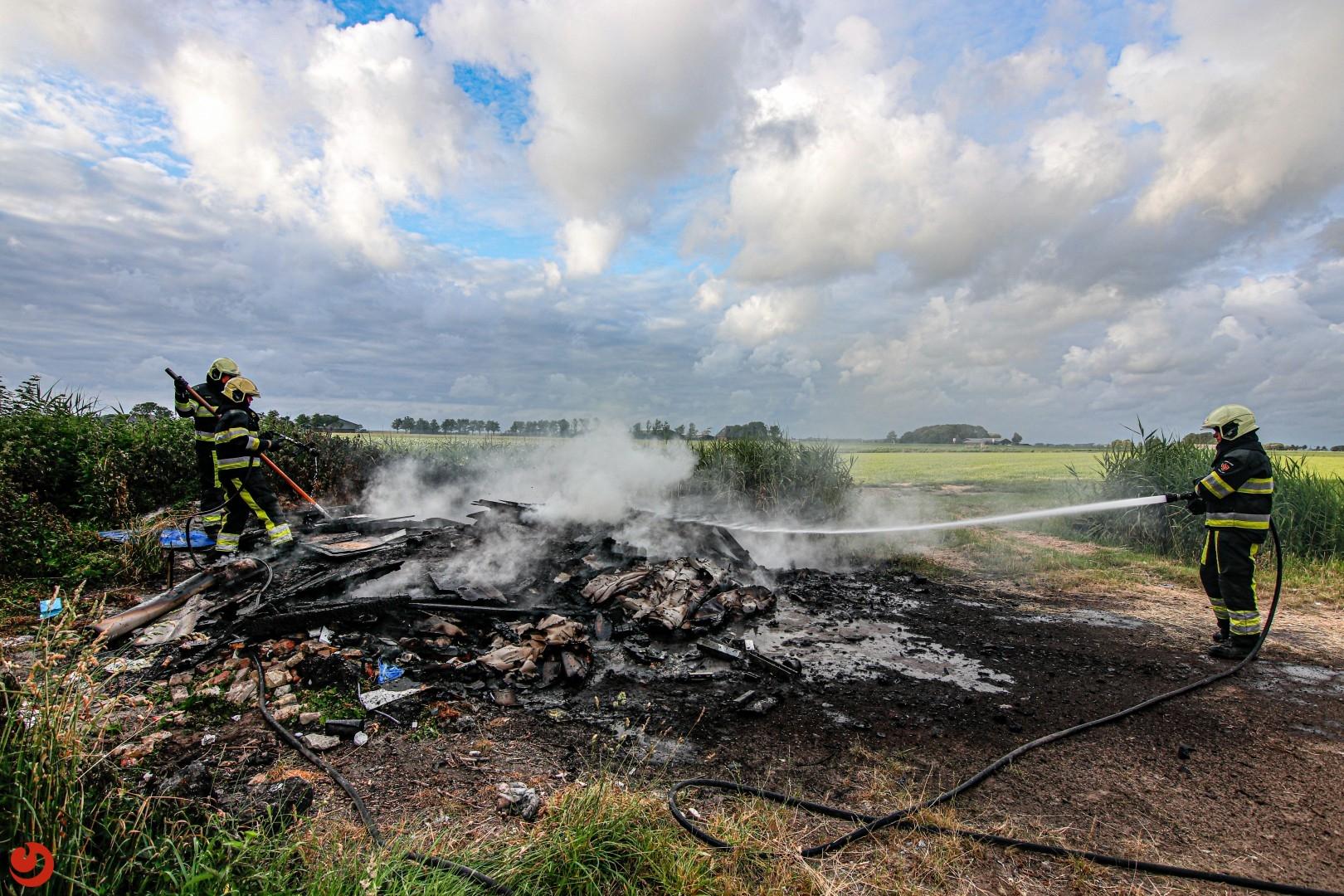 Brandweer rukt uit voor brandbult