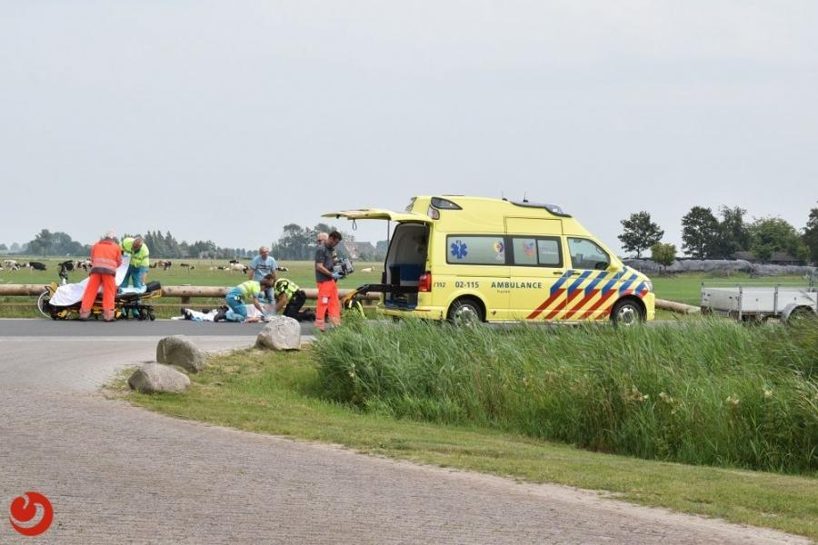 Fietser ernstig gewond bij ongeval