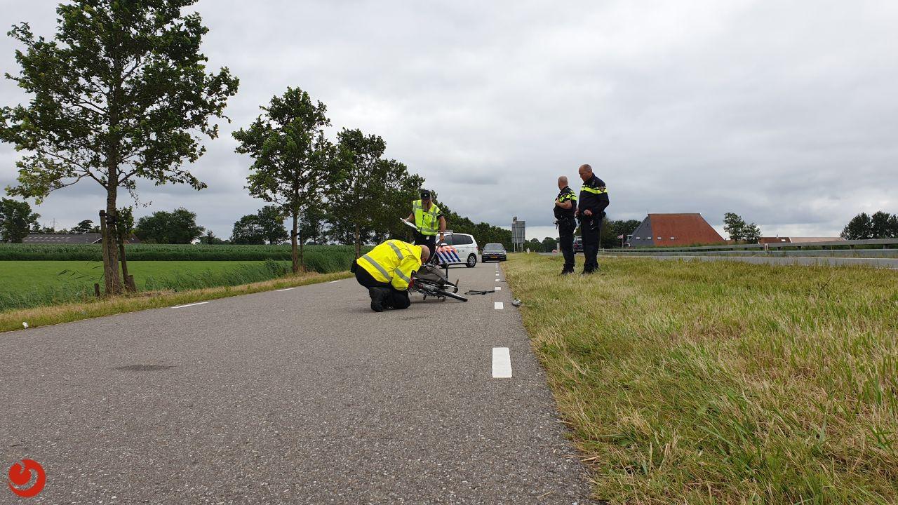 Wielrenner en fietser in botsing op N354