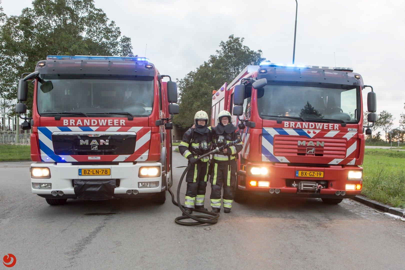 Brandweerman draagt stokje over
