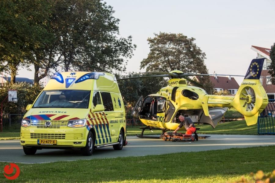 Scooterrijder ernstig gewond na ongeval