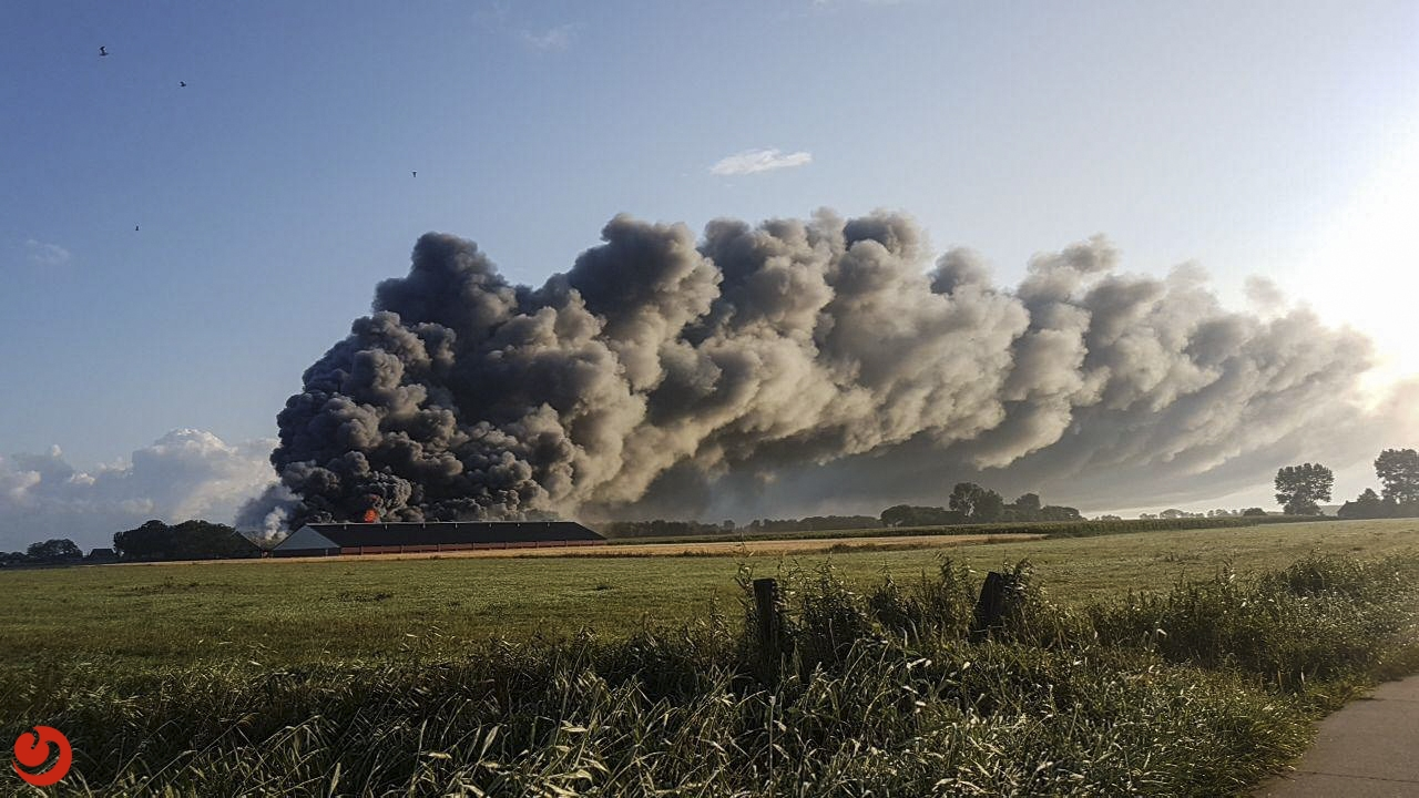 42.000 leghennen omgekomen bij enorme brand in kippenschuren