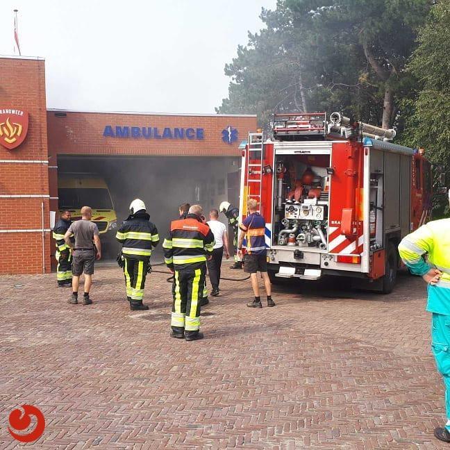 Brand in ambulancepost op Ameland