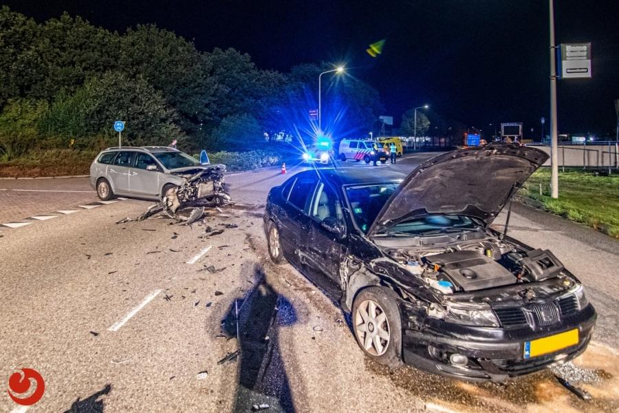 Gewonde bij ongeval op rondweg