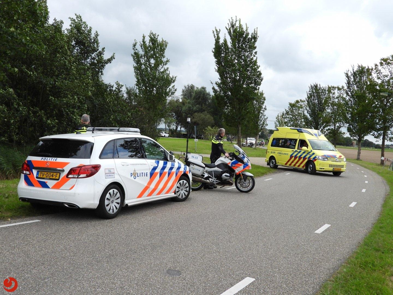 Politiemotor onderuit na ongeval