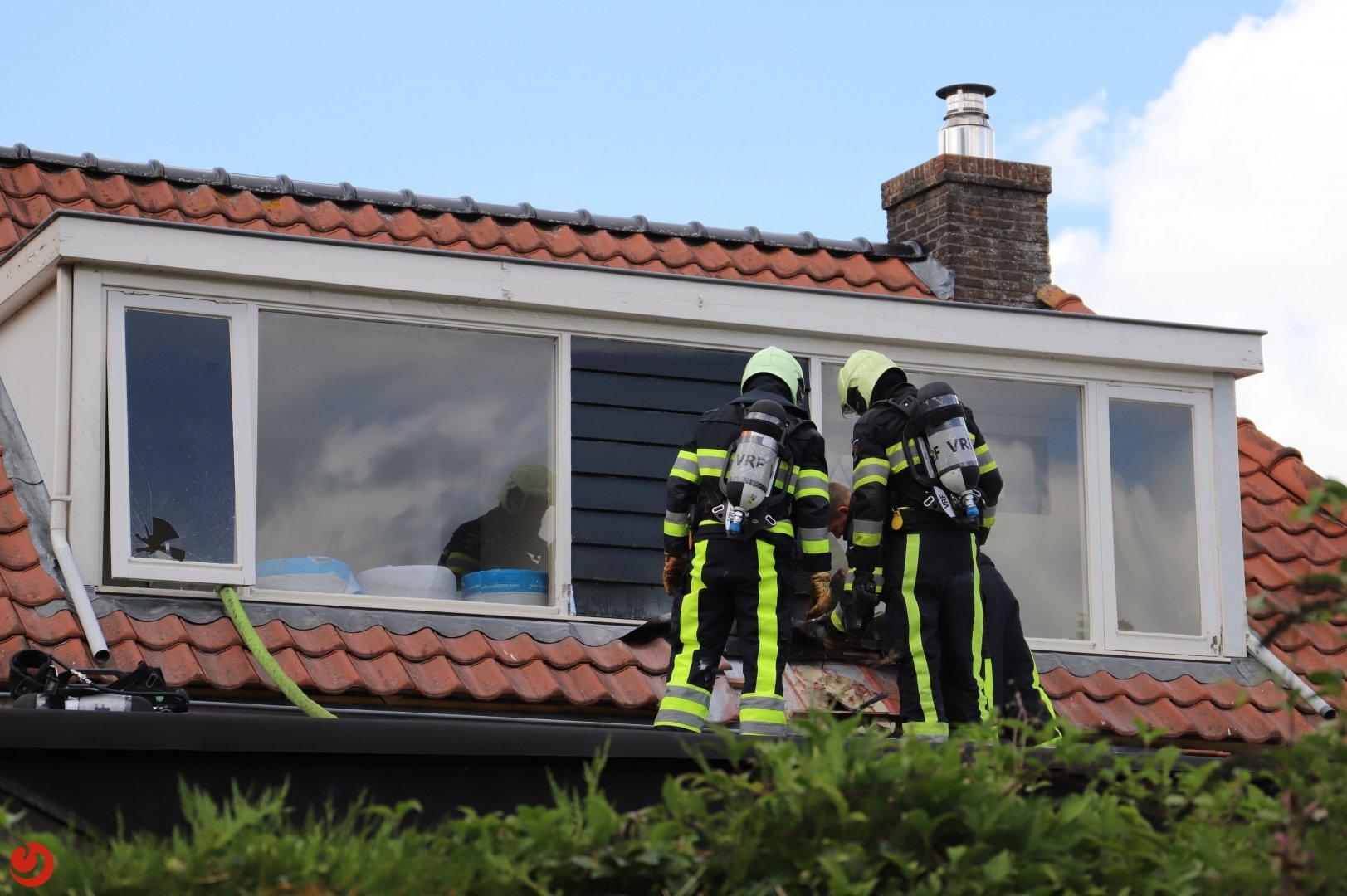 Schade aan woning door dakbrand