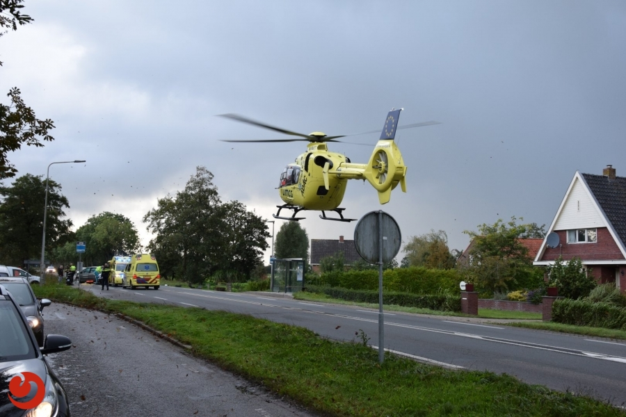 Gewonde bij ernstig ongeval op N355