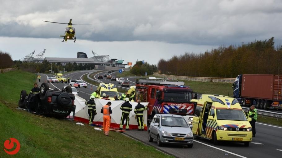 Drie gewonden bij ongeval op A32