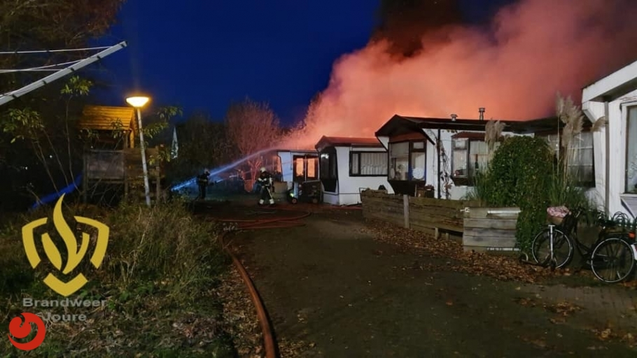 Uitslaande brand verwoest chalet