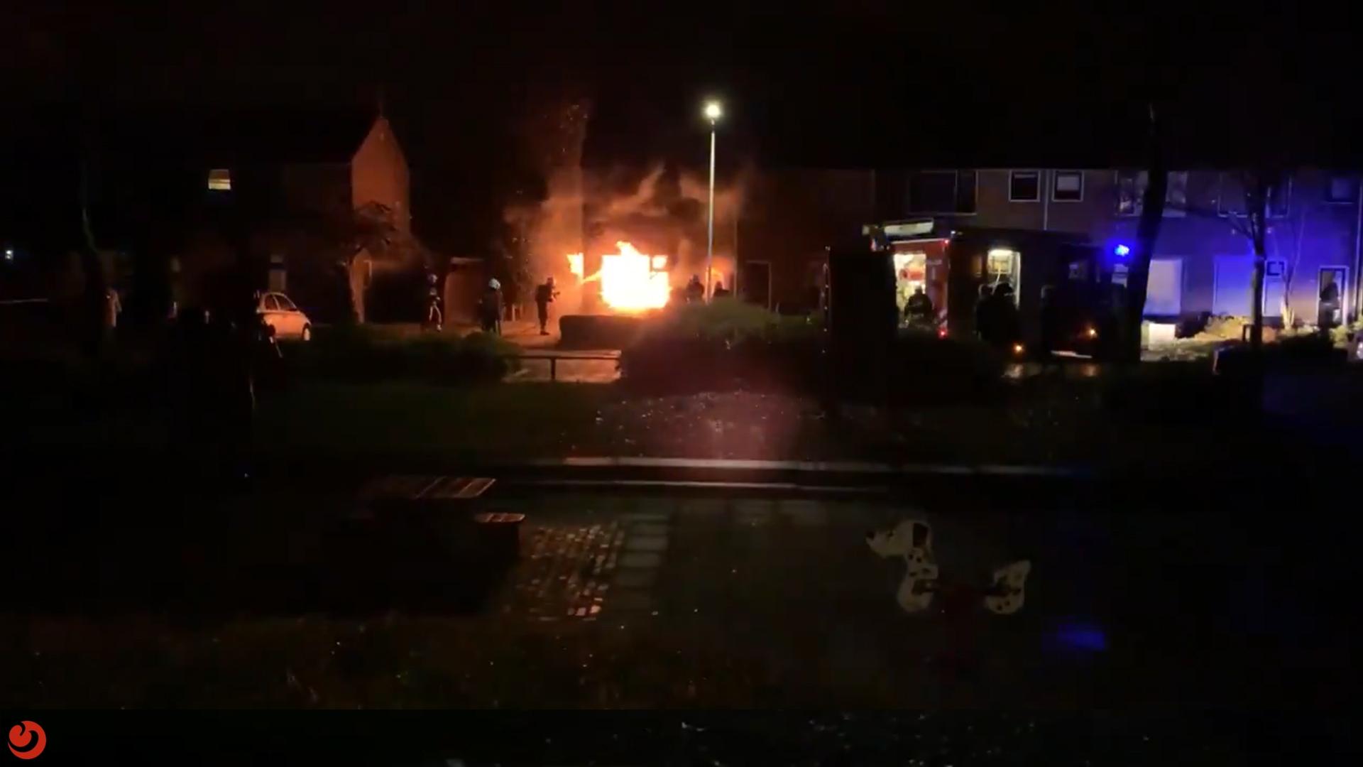 Vrouw (34) aangehouden vanwege grote brand in woning