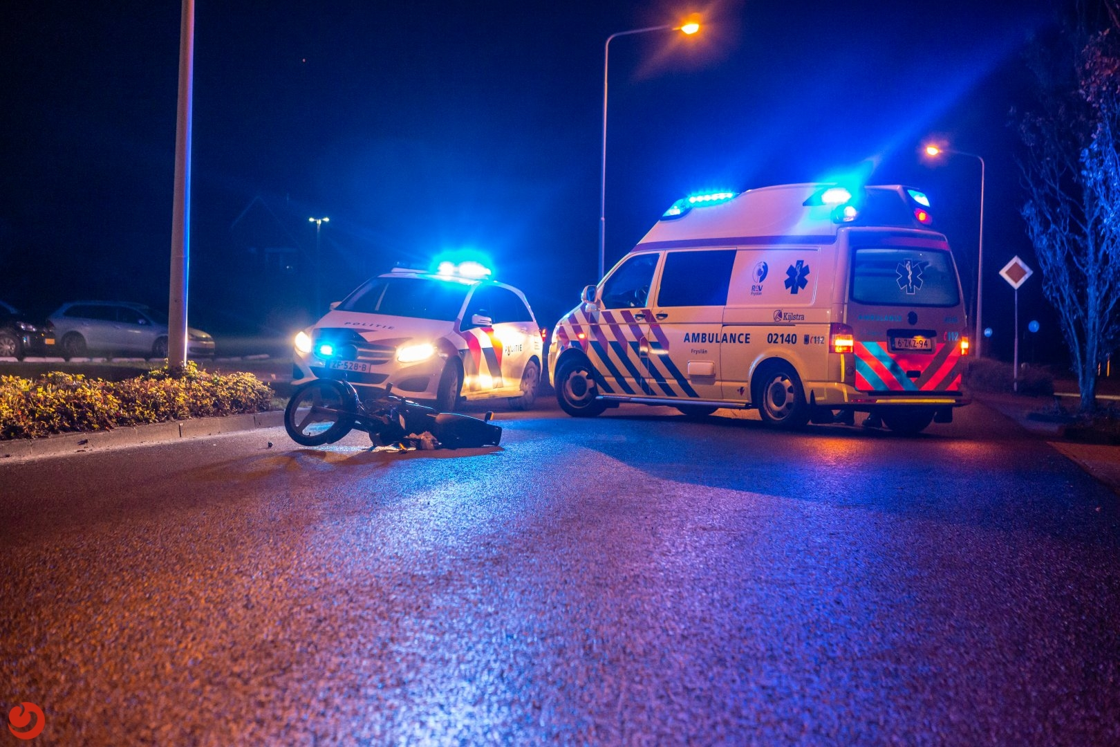 Bromfietser gewond bij aanrijding met scooter