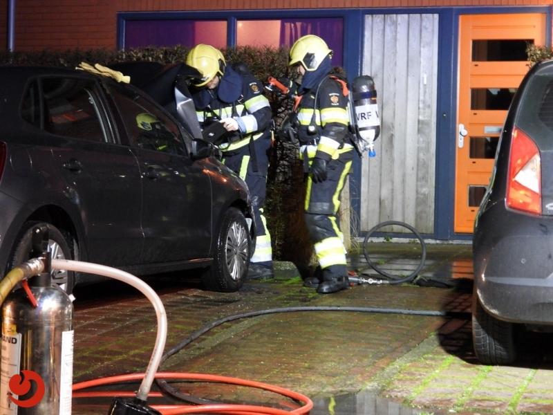 Schade aan auto door brand