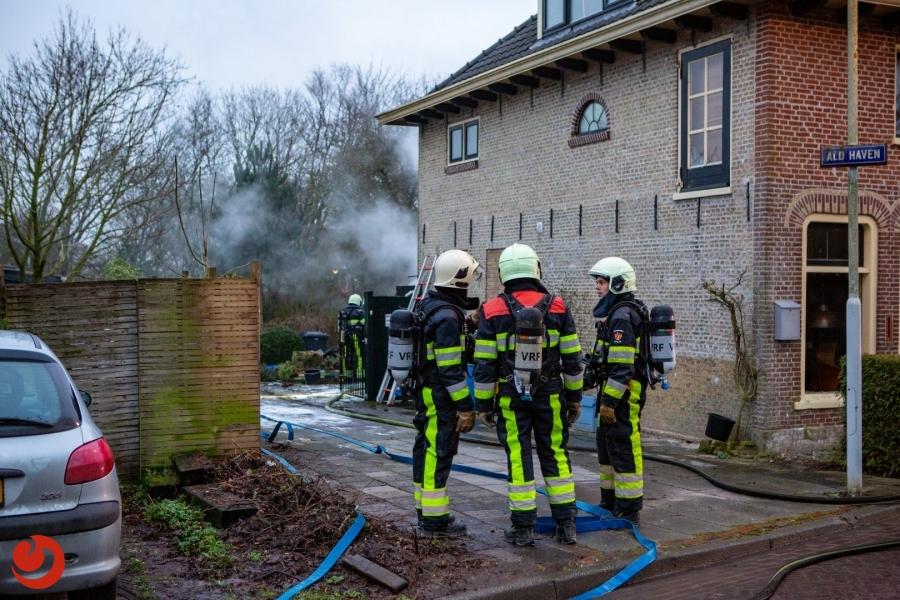 Brand in uitbouw van woning